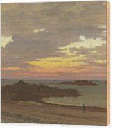 Evening On The Coast Wood Print