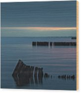 Evening On The Great South Bay Wood Print