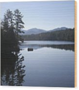 Evening On The Lake Wood Print by Kate  Leikin