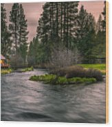 Evening On The Metolius Wood Print