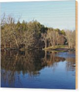 Evening On The Speed River Wood Print