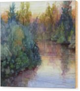 Evening On The Willamette Wood Print
