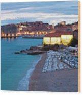 Evening Over Dubrovnik Wood Print