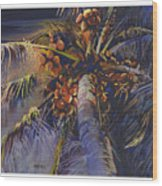 Evening Palm Wood Print