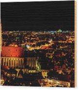Evening Panorama - Landshut Germany Wood Print