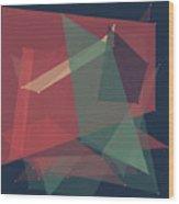 Evening Polygon Pattern Wood Print