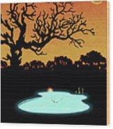 Evening Pool Wood Print