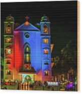 Evening Prayers On Christmas Eve. Wood Print