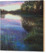 Evening Reflection Wood Print