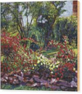 Evening Roses Wood Print by David Lloyd Glover
