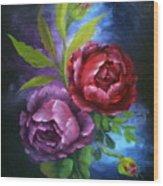 Evening Roses Wood Print