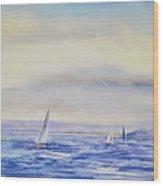 Evening Sail On Little Narragansett Bay Wood Print