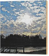 Evening Shadows Wood Print