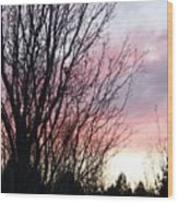 Evening Sky - October 27 Wood Print