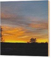 Evening Sky 2 Wood Print