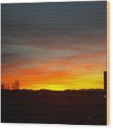 Evening Sky 8 Wood Print