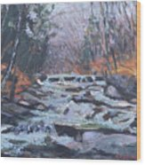 Evening Spillway Wood Print