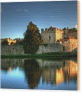 Evening Sun At Leeds Castle Wood Print