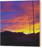 Evening Sunset Wood Print