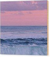 Evening Waves 2 - Jersey Shore Wood Print