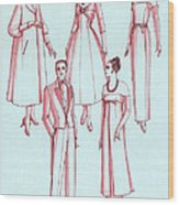 Evening Wear, 1956 Wood Print