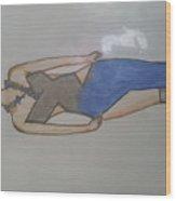 Evening Wear Fashion Sketch Wood Print