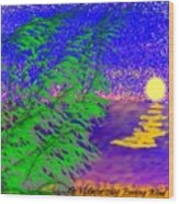 Evening Wind Wood Print