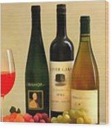 Evening Wine Display Wood Print