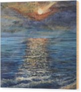 Evenning Sun Wood Print