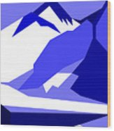 Everest Blue Wood Print