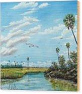 Everglades Inlet Wood Print