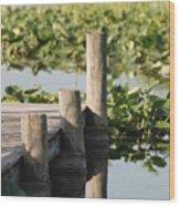 Everglades Pier Wood Print