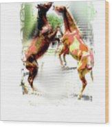 Everglades Ponies Wood Print
