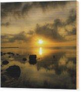 Everglades Sunrise Wood Print
