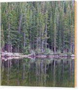 Evergreen Reflections Wood Print
