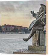 Evert Taube - Stockholm Wood Print