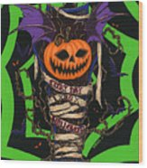 Every Day Is Halloween Wood Print