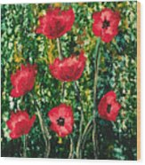 Every Dream Turns Up Poppies Wood Print