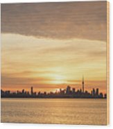 Every Morning Is Different - Toronto First Sunrays In Cyber Yellow  Wood Print