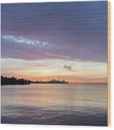 Every Morning Is Different - Toronto Skyline With An Awesome Cloudbank Wood Print
