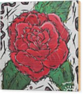 Every Rose Has Its Thorns Wood Print