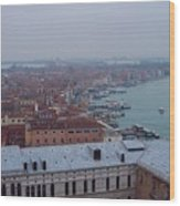 Everything Travels By Boat To Venice Wood Print