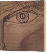 Evil Eye Wood Print
