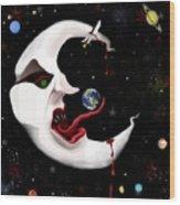 Evil Moon Wood Print