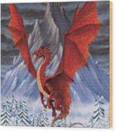 Evil Red Dragon Wood Print