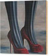 Evil Shoes Wood Print by Jindra Noewi