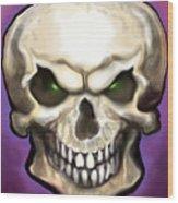 Evil Skull Wood Print
