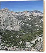 Evolution Lake And Valley Panorama From Darwin Bench - Sierra Wood Print