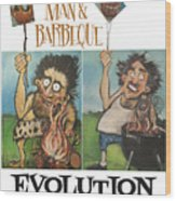 Evolution Poster Wood Print