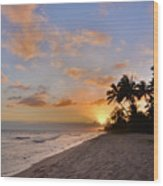 Ewa Beach Sunset 2 - Oahu Hawaii Wood Print